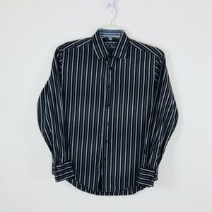 GUESS Button Front Shirt Multicolor Striped Mens S
